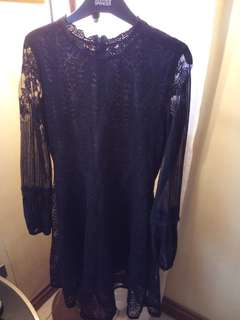 REPRICED Black lace dress