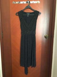 FNT Black Polka Dress (postage included)