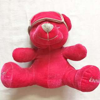 Pink Sleepy Bear Soft Toy
