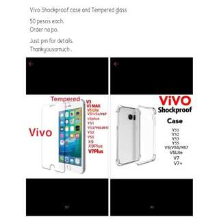 ShockProof Case For Vivo And Tempered Glass