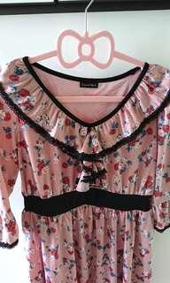 日本靚絲質顯瘦連身裙