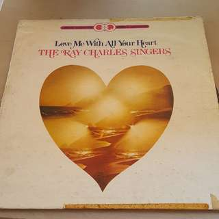 Ray Charles Singers Love Me With All Your Heart LP Vinyl record