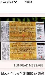 EXO 四巡 演唱會 6/3 急放!!