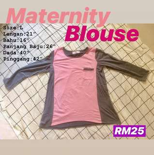 Maternity Blouse Pink