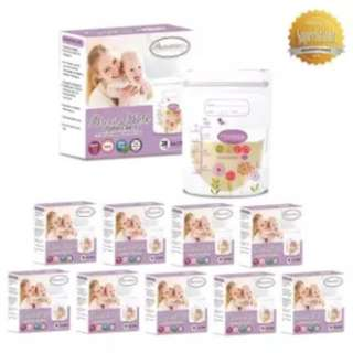 Autumnz Double ZipLock Breastmilk Storage Bag 5oz (10 x Pack of 28's)