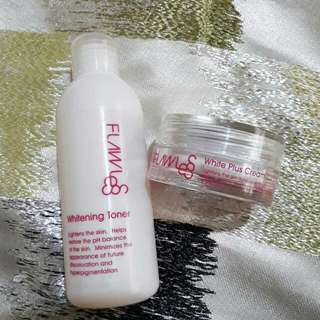 Flawless Whitening Toner and Cream