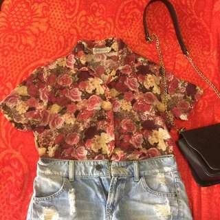 Old Rose Floral Top