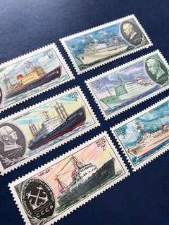 1980 蘇聯科學考察船 郵票6全
