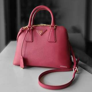 Authentic Prada Saffiano Lux Peonia BL0838