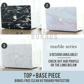 📣INSTOCKS📣 Marble Macbook Laptop Shell Hard Case Protector available for all models