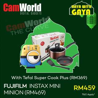 FUJIFILM MINI MINION WITH TEFAL SUPER COOK PLUS