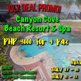 CANYON COVE July 2018 Promo!