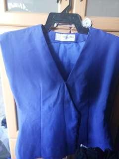 Blue sleeveless   Plus size   M - L  