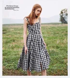 CHECKERED DRESS  Fits S To L  Price : 350