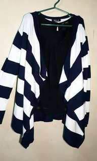 Blue and white stripes Cardigan