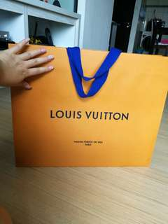 💯AUTHENTIC Paperbag Louis Vuitton  original paper bag empty box package packing packaging lv storage big large xl