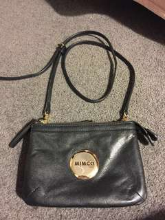 Mimco gold and black over the shoulder bag