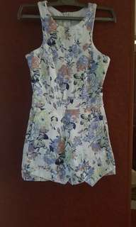 BN Floral Romper with pockets