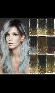'Preorder' Korean ombre wavy curly clip on hair extension * waiting time 15 days after payment is made * chat to buy to order