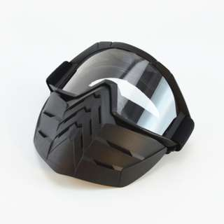 Mask Helmet off road retro escooter bikers motorbike paint ball wbb