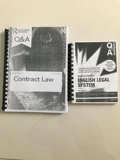 Q&A Contract Law, English Legal System