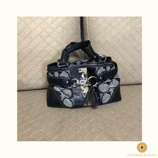 Coach Black Monogram Bag