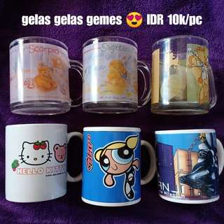 (JUAL MURAH!!) Gelas Kartun Unik Power Puff Girl dan Hello Kitty