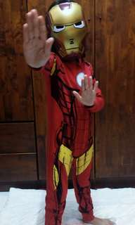 Ironman sleepsuit 6-7 yrs + topeng