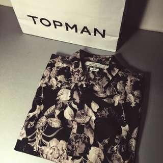 Topman Floral Relax Shirt