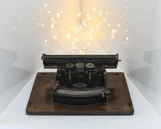 罕有古董滾軸指針打字機Rare Antique Pointer Scrolling Typewriter