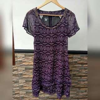 PRELOVED Midi Dress size S fit to L