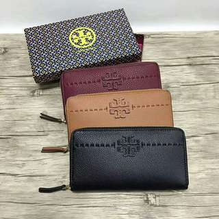 TORYBURCH fleming zip continental wallet