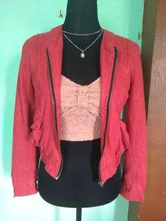Red Crop Jacket