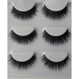 3pcs false eyelashes