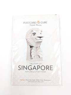 Postcard Cube - Foldable postcard (Merlion)