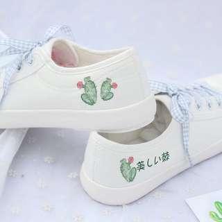 Lil Cactus Canva Shoe