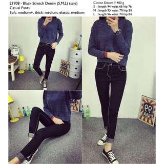 celana jeans hitam celana kain hitam celana panjang hitam celana black denim