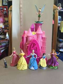 Disney Castle and Ceramic Princess Dolls