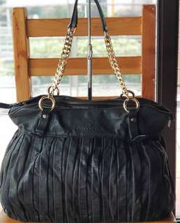 Authentic Hiroshima Pleated Genuine Leather Chain Bag
