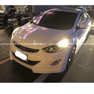 2013年 現代ELANTRA 白色 專營台灣優質中古車-二手車