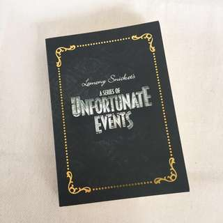 A Series of Unfortunate Events notebook