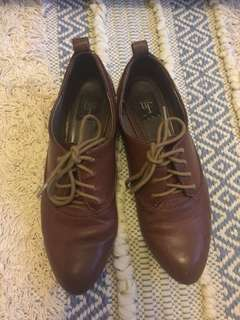 Zara TRF brown leather brogues