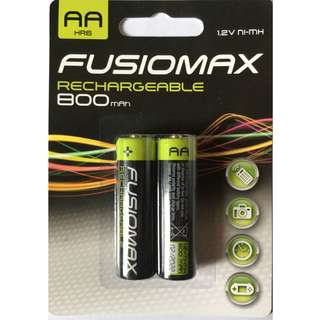 英國進口充電電池(AA) - Fusiomax Rechargeable Batteries 800 mAh