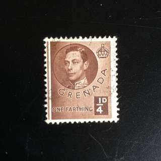 Stamp - Grenada 1937 - King George VI 1/4d