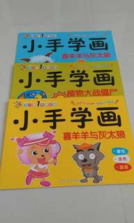 3 Colouring books