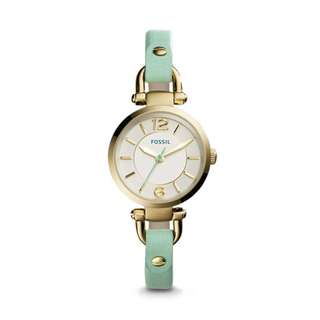 [Clearance] Fossil ES3999 Women's Georgia Mini Green Leather Watch