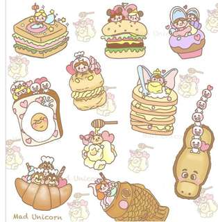 INSTOCK - Disney food planner stickers