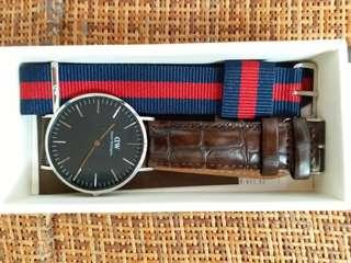 正貨全新DW手錶連額外錶帶(男女可戴)