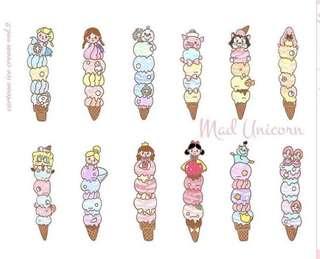 INSTOCK - Disney ice cream planner stickers