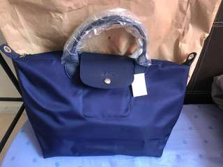 Longchamp Neo medium navy blue